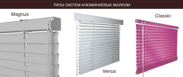 magnus venus алюминиевые жалюзи вышгород